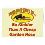 Manguera de jardín rizada tarjetas