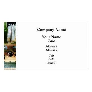 Manguera y bocas blancas plantilla de tarjeta de negocio
