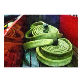 "Mangueras de bomberos en espiral invitación 5"" x 7"""