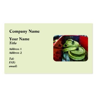 Mangueras de bomberos en espiral tarjeta de negocio