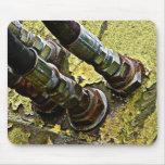 Mangueras hidráulicas en el tractor viejo tapete de ratón
