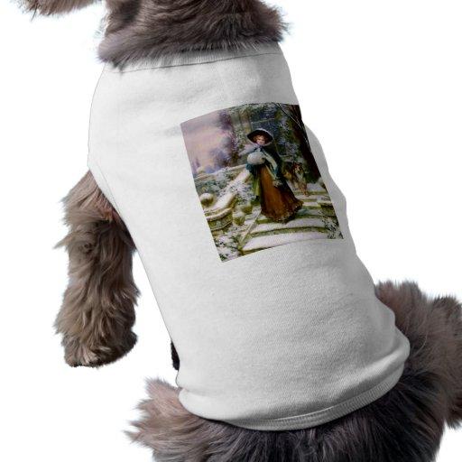 Manguito de la mano del Victorian del perro del co Camiseta De Mascota