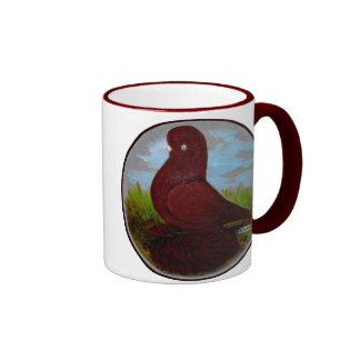 Manguito del rojo del vaso taza de dos colores