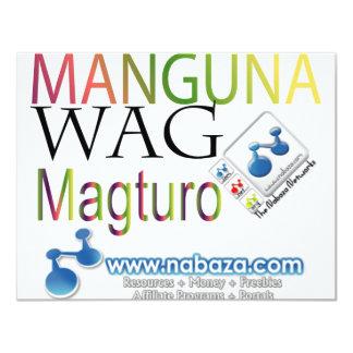 Manguna Wag Magturo Card