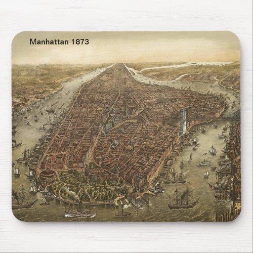 Manhattan 1873 map Mousepad