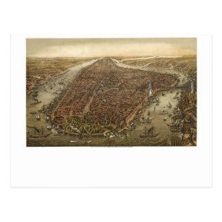 Manhattan 1873 postcard