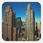Manhattan 3 square stickers