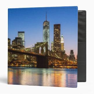 Manhattan and Brooklyn Bridge at dusk Binder