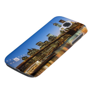 Manhattan and Brooklyn Bridge at dusk Samsung Galaxy S4 Cover
