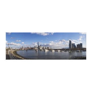 Manhattan and Jersey City Skyline Harbor View Canvas Print