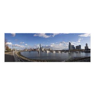 Manhattan and Jersey City Skyline Harbor View Photo Print