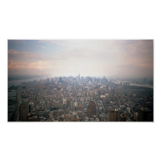 Manhattan as seen from 2 World Trade Center Poster