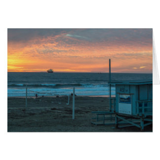 Manhattan Beach at El Porto Beach Sunset Stationery Note Card
