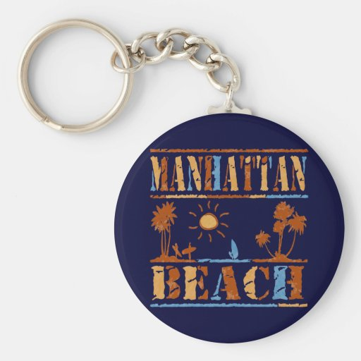Manhattan Beach Keychain