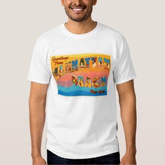 Manhattan Beach New York NY Old Travel Souvenir Tee Shirt