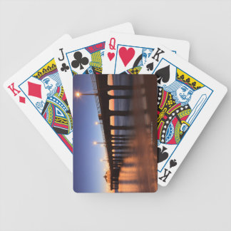 Manhattan Beach Pier at sunset, California Bicycle Playing Cards