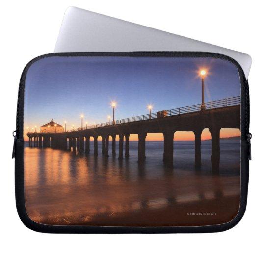 Manhattan Beach Pier at sunset, California Computer Sleeve