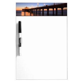 Manhattan Beach Pier at sunset, California Dry-Erase Whiteboards
