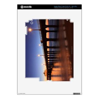 Manhattan Beach Pier at sunset, California iPad 3 Skin