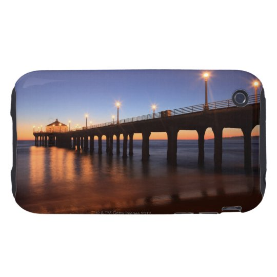 Manhattan Beach Pier at sunset, California iPhone 3 Tough Cover