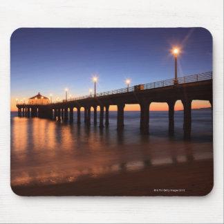 Manhattan Beach Pier at sunset, California Mousepads