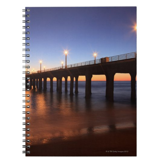 Manhattan Beach Pier at sunset, California Notebook