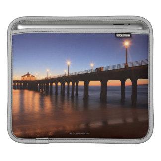 Manhattan Beach Pier at sunset, California Sleeve For iPads