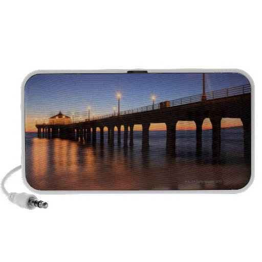 Manhattan Beach Pier at sunset, California Travel Speaker