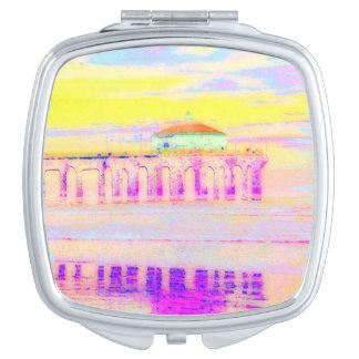 Manhattan Beach Pier California in Pastels Mirror For Makeup
