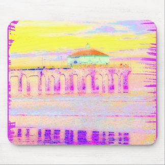Manhattan Beach Pier California in Pastels Mouse Pad
