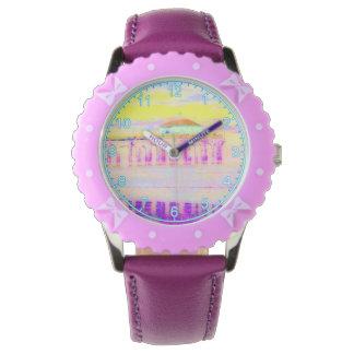 Manhattan Beach Pier California in Pastels Wristwatch