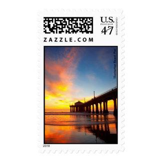 Manhattan Beach Pier Postage Stamp