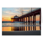 Manhattan Beach Pier Sunset Greeting Card