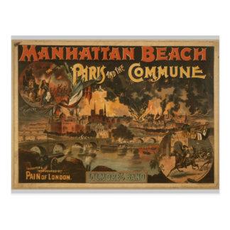 Manhattan Beach Tarjeta Postal