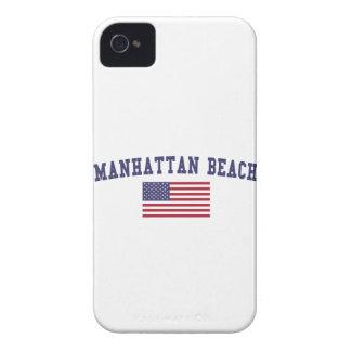 Manhattan Beach US Flag iPhone 4 Cases