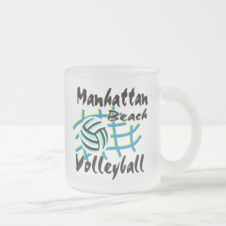 Manhattan Beach Volleyball Gift Frosted Glass Coffee Mug