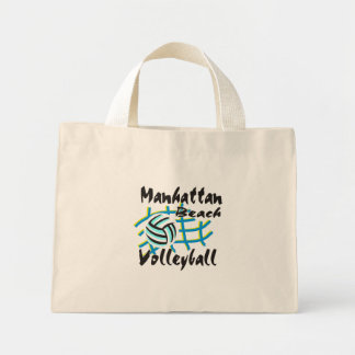Manhattan Beach Volleyball Gift Mini Tote Bag