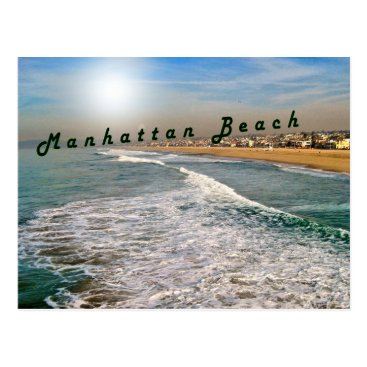Beach Themed Manhattan Beach Waves Postcard