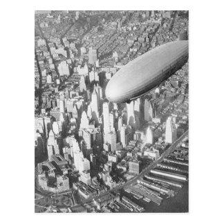 Manhattan Blimp Postcard