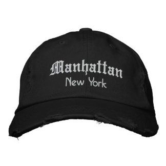manhattan bold embroidered baseball hat