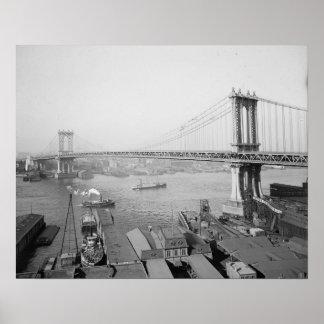 Manhattan Bridge, 1909 Poster