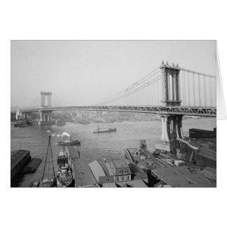 Manhattan Bridge, 1909 Tarjeta De Felicitación