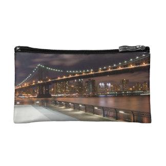 Manhattan Bridge and NYC Skyline Cosmetic Bag