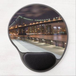 Manhattan Bridge and NYC Skyline Gel Mouse Pad