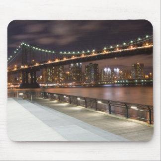 Manhattan Bridge and NYC Skyline Mouse Pad