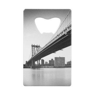 Manhattan Bridge and skyline, New York, US. Credit Card Bottle Opener