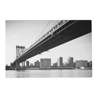 Manhattan Bridge and skyline, New York, US. Placemat
