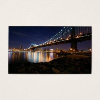 Manhattan Bridge at Night Business Card