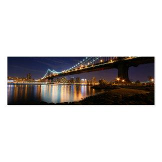 Manhattan Bridge at Night Business Card Templates