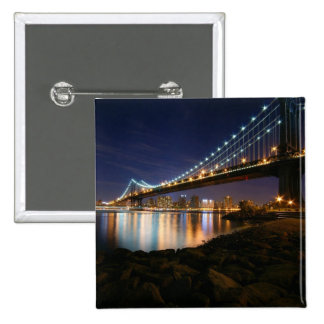 Manhattan Bridge at Night Pins